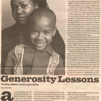 Article: Generosity Lessons